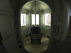 The former gas chamber at New Mexico State Penitentiary, used only once in 1960 and later replaced by lethal injection.