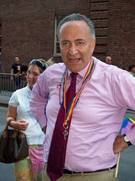 Schumer at New York City's gay pride parade in 2007