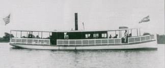 The steamer Atlantic, which until 1910 transported passengers bound for Bethany Beach between Rehoboth Beach, Delaware, and Ocean View, Delaware.[44]