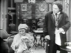 Ralph Lewis as Austin Stoneman and Mary Alden as Lydia Brown, The Birth of a Nation, 1915