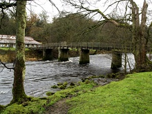 Wooden bridge over the River Wharfe - geograph.org.uk - 624966.jpg