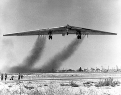YB-49 takes to the air for the first time.