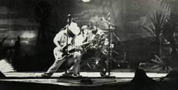 ZZ Top performing live in 1976