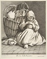 The Pottery Seller, from Cris de Paris, 1737 [Etching by Bouchard; edited and published by Joullain]