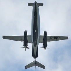 Planform view of the Piaggio P.180 Avanti, highlighting its unusual design