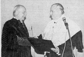"Receiving the title ""Doctor Honoris Causa"", 1983"