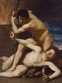 Cain killing Abel, painting by Bartolomeo Manfredi, c. 1610, Kunsthistorisches Museum