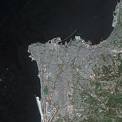 Beirut seen from SPOT satellite