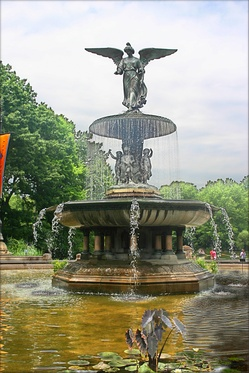 """Angel of the Waters"", in Bethesda Fountain (sculpted 1873)"