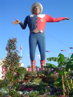Big Tex, the mascot of the State Fair of Texas since 1952