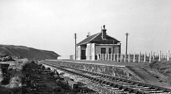 Remains of Buckpool station in 1961