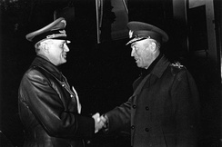 Ribbentrop (left) with Marshal Ion Antonescu, in 1943