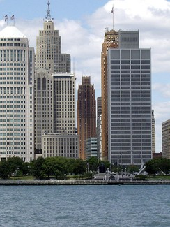 Detroit Financial District viewed from Windsor, Ontario