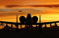 An A-10 in the Arizona sunset