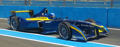 A Renault Sport-backed e.dams car driven by Nicolas Prost during the 2014 Punta del Este ePrix weekend