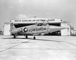 Air National Guard Lockheed F-104A-25-LO Starfighter (AF Ser. No. 56-0863) from the 157th Fighter-Interceptor Squadron, South Carolina Air National Guard, at McEntire Air National Guard Base, South Carolina