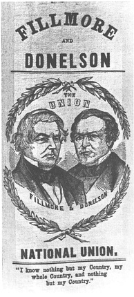 Fillmore–Donelson campaign poster