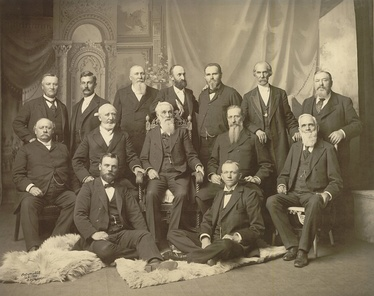 The First Presidency and the Quorum of the Twelve Apostles in September 1898[1]