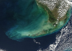 The Florida Keys as seen from a satellite.[129]