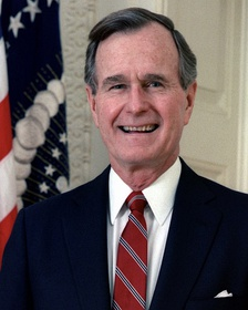 George H. W. Bush, the first former vice president to become president by vote rather than by the death or resignation of the sitting president since 1836, ended the Cold War during his term