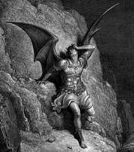 Gustave Doré, Depiction of Satan, the central character of John Milton's Paradise Lost c. 1866