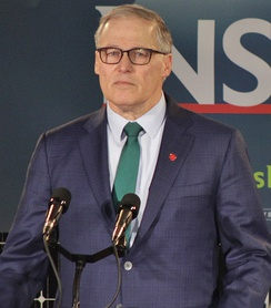 Inslee declaring his candidacy for president