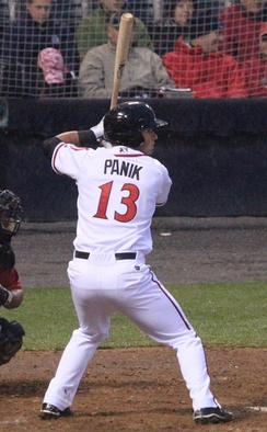 Panik with the Richmond Flying Squirrels in 2013