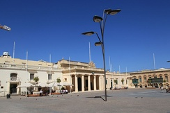 Saint George's Square (Misrah San Gorg) in Valletta, the former slave market