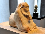 Maned sphinx of Amenemhat III. 12th Dynasty, c. 1800 BC. State Museum of Egyptian Art, Munich