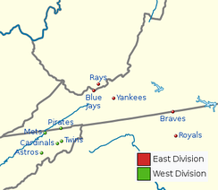 Current team locations:  East Division  West Division
