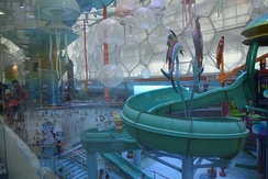 A modern indoor water park in China