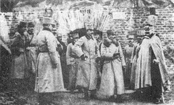 Heir presumptive Karl visiting the fortress of Przemyśl after the first siege. The Russian Siege of Przemyśl was the longest siege of the war.