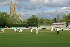 New Road is the home of Worcestershire County Cricket Club, across the River Severn from Worcester Cathedral.