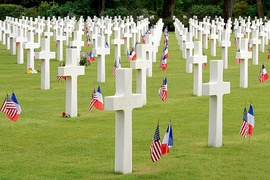 The Normandy American Cemetery and Memorial near Colleville-sur-Mer