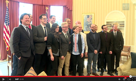 "Leading YouTube content creators met at the White House with U.S. President Obama to discuss how government could better connect with the ""YouTube generation"".[264][265]"