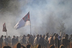 The Battle of Olustee reenactment on the 150th anniversary.