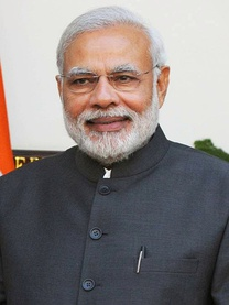 Narendra Modi became the Prime Minister of India, following the 2014 Indian general election.