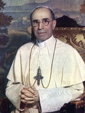 Pope Pius XII, pope from 1939, encouraged devotees to visit Padre Pio of Pietrelcina.