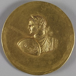 This medallion exemplifies the typical manner in which Caracalla was depicted. Walters Art Museum, Baltimore.