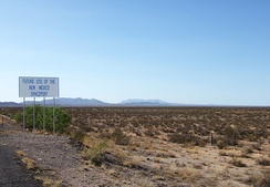 Sierra County NM - new mexico space port sign.jpg