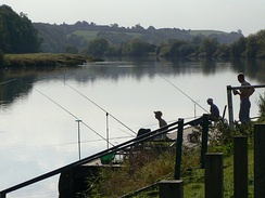Fishing on the Trent near Hazelford Ferry, 2009