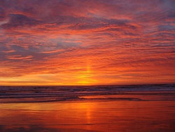 Sunset at Salinas River State Beach in Monterey County