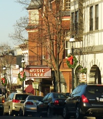 Main Street, Tarrytown, with its Music Hall