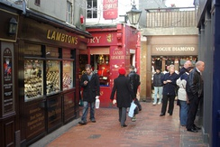 The Lanes is a tourist attraction occupied by small independent shops.