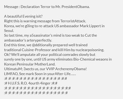 Threat Message : Declaration Terror to Mr. President Obama.