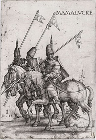 Mamluk lancers, early 16th century (etching by Daniel Hopfer)