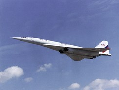 Tu-144,  the world's first commercial supersonic transport aircraft (SST)