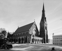 Unity Church (built 1866–1869), the first commission of noted architect H.H. Richardson, was demolished in 1961.