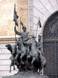 Monument to the Spanish Regiment of light cavalry of Alcántara