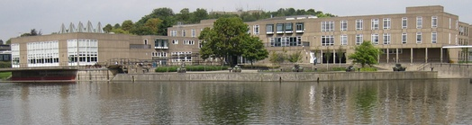 "Panorama of Vanbrugh ""paradise"" viewed from across the lake"